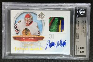 2009-10 SP Authentic Future Watch Limited Auto Patch Antti Niemi /100 5 COLOR