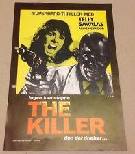 """L'assassino è al telefono"" Savalas Heywood 1972 Danish Movie Press Release Kit"