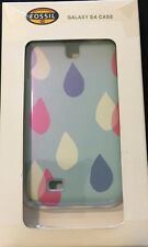 FOSSIL Galaxy S4 Hardshell Blue Ink Drop Phone Case New $35 CUTE