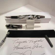 Terzetti Tripoli Fountain Pen WHITE- Medium Iridium Nib+Converter+Pouch+Gift Box