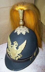 M-1881 DRESS HELMET, MOUNTED INFANTRY, HORSTMANN BROS. & CO. U.S. ISSUE *NICE*