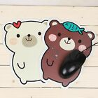 1 X Cute White Brown Bear Anti-slip Mouse Pad Pc Computer Mouse Mat Pad Mousepad