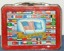 Rare 1954 Flag-O-Rama Lunch Box By Universal* Rarity 8*Used Condition*
