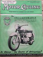 Motorcycling Magazine - 18 September 1958 - Manx GP, AJS & Matchless, Italian GP