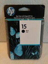 Genuine HP 15 Black Inkjet Print Cartridge C6615DN Expired 3/19 Printer Ink
