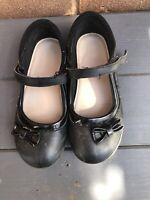 F&F 🖤 Black Mary Jane School Shoes 🖤 Kids Junior 11 Girls Smart