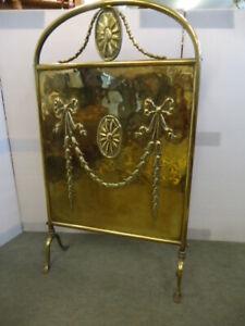 Vintage Brass Fire Screen