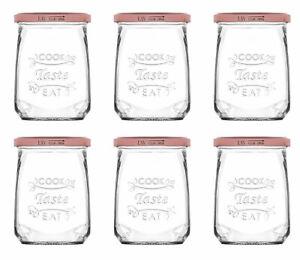 Einmachglas Vorratsglas Aufbewahrungsglas Metall Schraubdeckel 500 ml 6 Stück