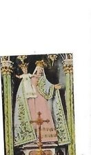 VINTAGE SMALL PRAYER CARD: CONTINENTAL ROBED STATUE MADONNA & CHILD Mary & Jesus