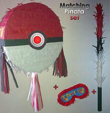 Pokeball Pinata Conjunto Fiesta De Cumpleaños Grandes Smash Pikachu Pokemon Pokémon ir de palo