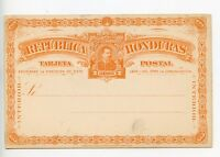 Honduras postal stationery postcard unused (Q872)