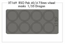 Eduard 1/35 RSO Pak 40/4 75mm wheel masks # XT169