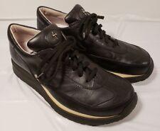 Paciotti 4US Black Leather Sneaker Walking Shoe Sz. 38 (EU) -