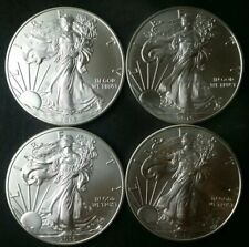 Lot of Four 2015 $1 American Silver Eagle Dollars