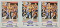 1990-91 FLEER BASKETBALL Earvin Magic Johnson (3x) Card Lot #93 NM Lakers MVP