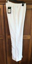 Prince Tennis Warm-Up pants zippered Hem Legs Men's Medium White Aero Tech NWT