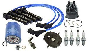 🔥OEM Oil Filter & Spark Plug Wire PCV Valve Tune Up Kit For Honda Civic CRX🔥