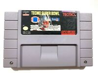 Tecmo Super Bowl Football Super Nintendo SNES Original Game Tested + Working!