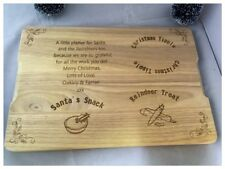 Personalised Wooden Father Christmas Eve Santa's Rudolph Reindeer Board Bottle