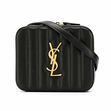 Saint Laurent YSL Vicky Quilted Leather Belt Bag Black - 100% Authentic NWT