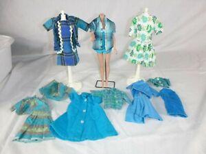 15 Pcs Vtg Barbie Clone & Handmade Clothing Blues Greens CUTE!! Mix N Match