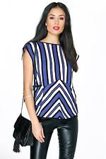 Polyester Casual Striped Tops & Shirts for Women