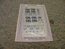 Microscale  decals HO 87-640 CSX CSL Intermodal 48' containers chassis   E97