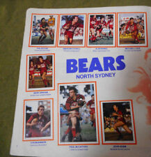 #T90.  1983 NORTH SYDNEY BEARS  RUGBY LEAGUE STICKERS ON ALBUM PAGE