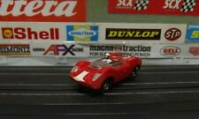 AURORA TJET RED McLAREN ELVA / '70's OPEN RIVET CHASSIS HO SLOT CAR #1397