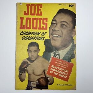 Vintage 1950 JOE LOUIS Sept No.1 First Issue Fawcett Comic Book Boxing Champion