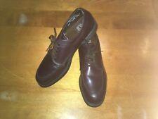Vintage Men's Knapp Brown Leather Oxford Safety Shoes Size 12 E