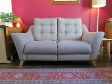 G Plan Pip Floss Duck Egg Fabric Static 2 Seater Sofa with Foot Stool