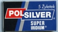 POLSILVER SUPER IRIDIUM  # Double Edge Razor DE # 5 blades pack