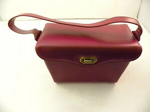 """1950s Cranberry Color Wonder Purse w/ One Pocket (About 7"""" by 5"""" by 4"""" in Size)"""