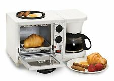 Breakfast Station 4 Cup Coffee Maker Toaster Oven Electric Griddle Dorm Kitchen