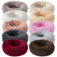 Long Plush Soft Pet Bed Kennel Dog Round Cat Winter Warm Sleeping Puppy Cushion