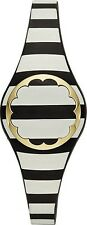 KATE SPADE NEW YORK  BLACK & CREAM STRIPE ACTIVITY TRACKER KSA31207