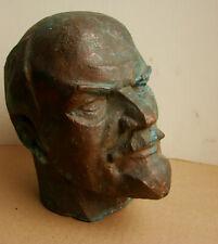 Russian Ukrainian Soviet author's bust COPPER sculpture LENIN head bronze statue