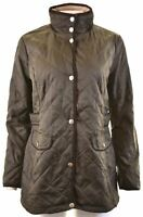 NAUTICA Womens Quilted Jacket Size 14 Medium Khaki Polyester  EZ22
