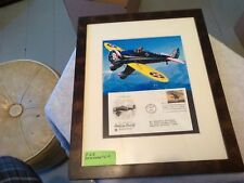 A picture with evelope of a classic american aircraft Boeing p-26 peashooter