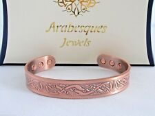 ARABESQUES TOP QUALITY Medium Celtic Knot copper magnetic bangle/bracelet AJMB