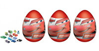 3pcs disney cars plastic egg surprise boys Kinder toy party favors +candy treats