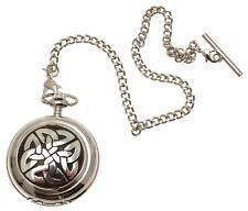 Pocket watch Celtic Knotwork design skeleton mechanism