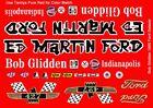 Bob Glidden Ed Martin 1965 Ford Galaxie 1/43rd Scale Slot Car Decals