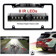 Car Rear View Backup Camera 8 IR Night Vision US License Plate Frame Fast Ship!