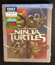 TEENAGE MUTANT NINJA TURTLES Blu-Ray, DVD SteelBook +4 Ninja Masks Best Buy TMNT