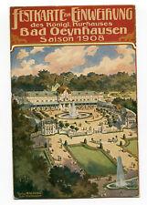 AK Bad Oeynhausen Festkarte zur Einweihung Königl. Kurhaus 1908