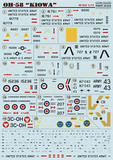"DECAL FOR OH-58 "" KIOWA "" 1/72 PRINT SCALE 72-070"