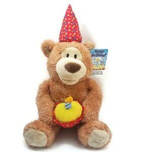 Gund Candle Animated Birthday Plush Bear Cupcake Hat 800-Flowers Exclusive P3