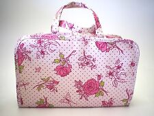 Crabtree & Evelyn  ROSEWATER Floral Cosmetic  Toiletry Bag